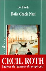 Cover of: Doña Gracia Nasi