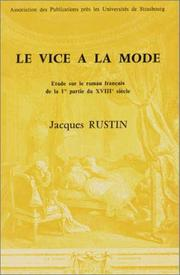 Le vice à la mode by Jacques Rustin