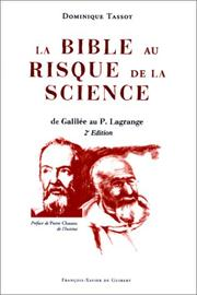 Cover of: La Bible au risque de la science
