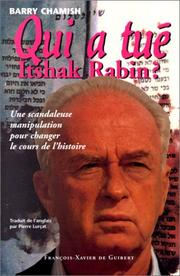 Cover of: Qui a tué Itshak Rabin?