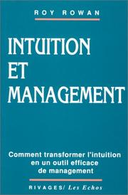 Cover of: Intuition et management