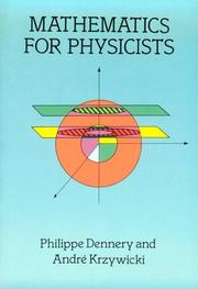 Cover of: Mathematics for physicists