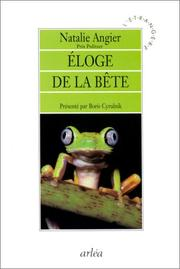 Cover of: Eloge de la bête