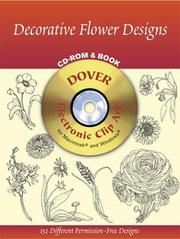 Cover of: Decorative Flower Designs CD-ROM and Book