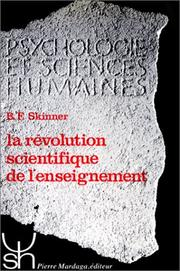 Cover of: La révolution scientifique de l'enseignement