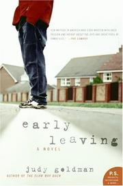 Cover of: Early Leaving | Judy Goldman