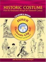 Cover of: Historic Costume CD-ROM and Book