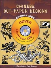 Cover of: Chinese Cut-Paper Designs CD-ROM and Book | Dover Publications, Inc.