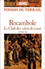 Cover of: Rocambole, tome 3