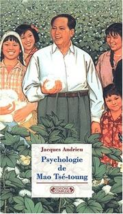Cover of: Psychologie de Mao Ts-toung