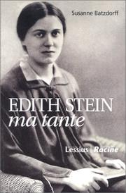 Cover of: Edith Stein, ma tante
