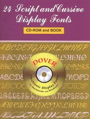 Cover of: 24 Script and Cursive Display Fonts CD-ROM and Book | Dover Publications, Inc.
