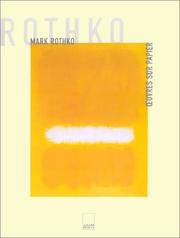 Cover of: Mark Rothko, oeuvre sur papier
