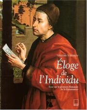 Cover of: Eloge de l'individu