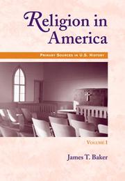 Cover of: Religion in America, Volume I