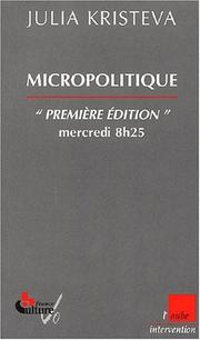 Cover of: Micropolitique