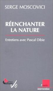 Cover of: Réenchanter la nature