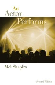 Cover of: An Actor Performs | Mel Shapiro