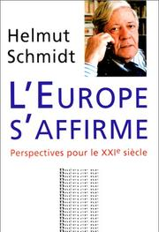 Cover of: L'Affirmation de L'Europe