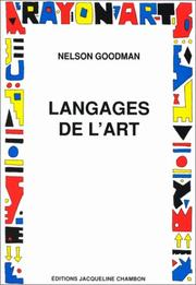 Cover of: Langages de l'art
