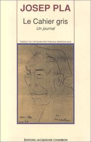 Cover of: Le cahier gris