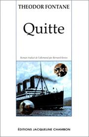 Cover of: Quitte