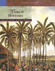 Cover of: World History, Volume I | William J. Duiker, Jackson J. Spielvogel