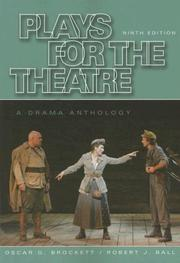 Cover of: Plays for the theatre