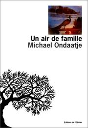 Cover of: Un air de famille