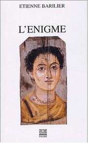 Cover of: L'énigme