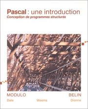 Cover of: Pascal: une introduction