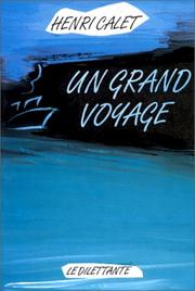 Cover of: Un grand voyage