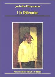 Cover of: Un dilemme