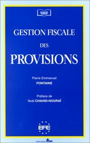 Cover of: Gestion fiscale des provisions