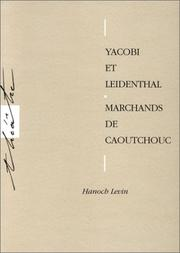 Cover of: Yacobi et Leidenthal