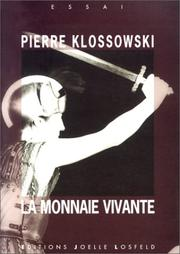 Cover of: La Monnaie vivante