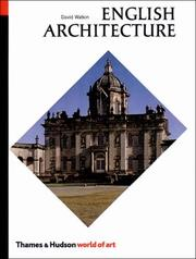 Cover of: English Architecture