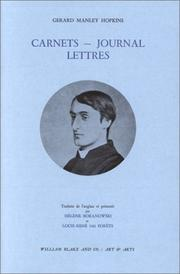 Cover of: Carnets - Journal - Lettres