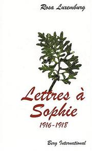 Cover of: Lettres à Sophie