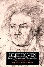 Cover of: Beethoven Letters Journals and Conversations
