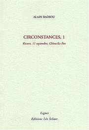 Cover of: Circonstances 1