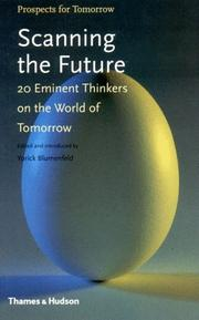 Cover of: Scanning the Future | Yorick Blumenfeld