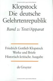 Cover of: Die Deutsche Gelehrenrepublik: Text/Apparat