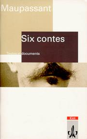 Cover of: Six contes, Texte et documents