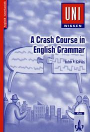 Cover of: A Crash Course in Grammar