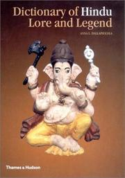 Cover of: Dictionary of Hindu Lore and Legend | Anna L. Dallapiccola