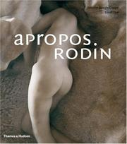 Cover of: Apropos Rodin