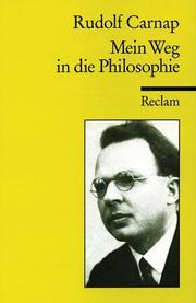 Cover of: Mein Weg in die Philosophie
