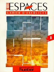 Cover of: Le Nouvel Espaces, Cahier d' exercices