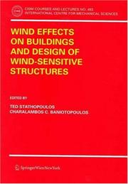 Cover of: Wind Effects on Buildings and Design of Wind-Sensitive Structures (CISM International Centre for Mechanical Sciences) |